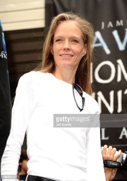 Suzy Amis plants first tree in North America symbolizing the one million tree initiative on behalf of the Avatar Bluray disc and DVD release on Earth...