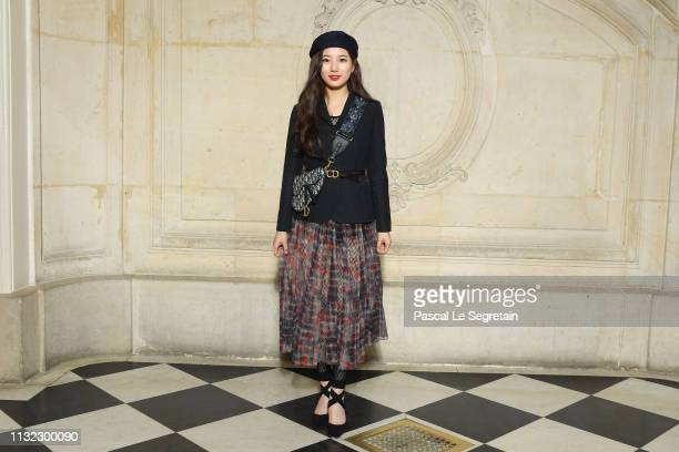 Suzy Bae attends the Christian Dior show as part of the Paris Fashion Week Womenswear Fall/Winter 2019/2020 on February 26, 2019 in Paris, France.
