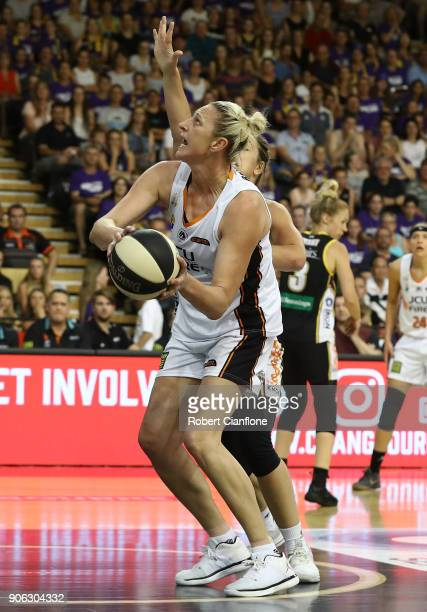Suzy Batkovic of the Townsville Fire looks to shoot during game two of the WNBL Grand Final series between the Melbourne Boomers and the Townsville...