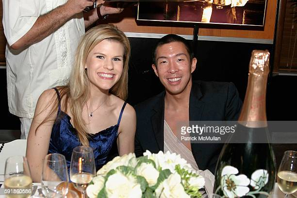 Suzy Buckley and John Lin attend Perrier Jouet Dinner at The Raleigh Hotel on October 21, 2005.