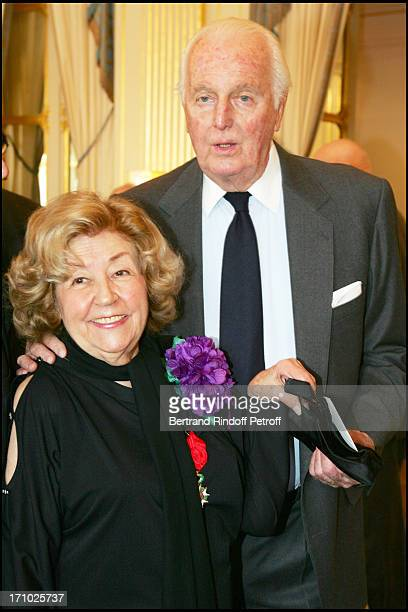 Suzy Delair and Hubert De Givenchy Suzy Declair is made Officer of the National Order of Legion of Honor at the ministry of culture in Paris