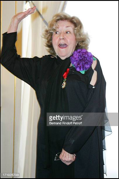 Suzy Delair - Suzy Declair is made Officer of the National Order of Legion of Honor at the ministry of culture in Paris.