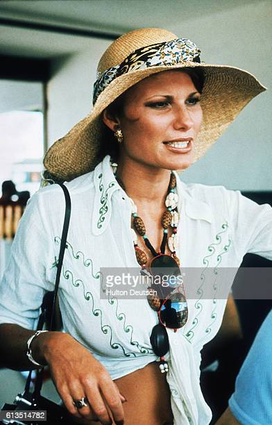 Suzy Hunt wife of racing driver James Hunt at the Argentine Grand Prix Mrs Hunt would later marry actor Richard Burton