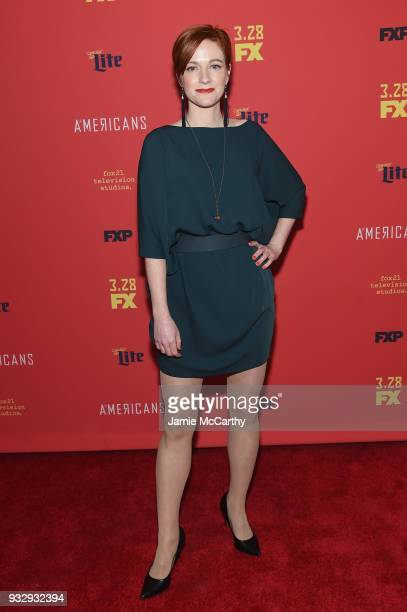 Suzy Jane Hunt attend 'The Americans' Season 6 Premiere at Alice Tully Hall Lincoln Center on March 16 2018 in New York City