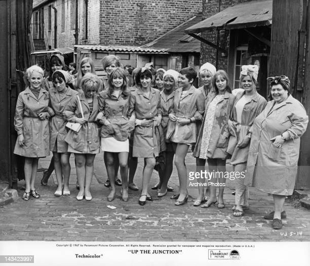 Suzy Kendall and other working class women in a scene from the film 'Up The Junction' 1967
