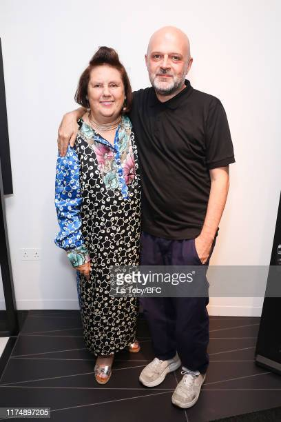 Suzy Menkes and Hussein Chalaya attend the Chalayan x Wallpaper October Issue Launch Party during London Fashion Week September 2019 on September 15,...