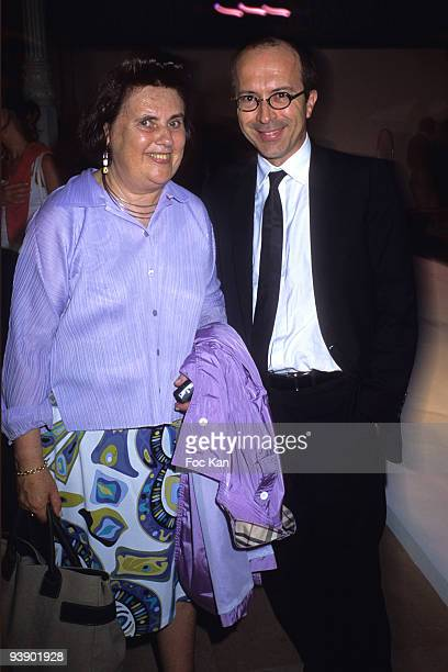 Suzy Menkes and Jean Marc Loubier