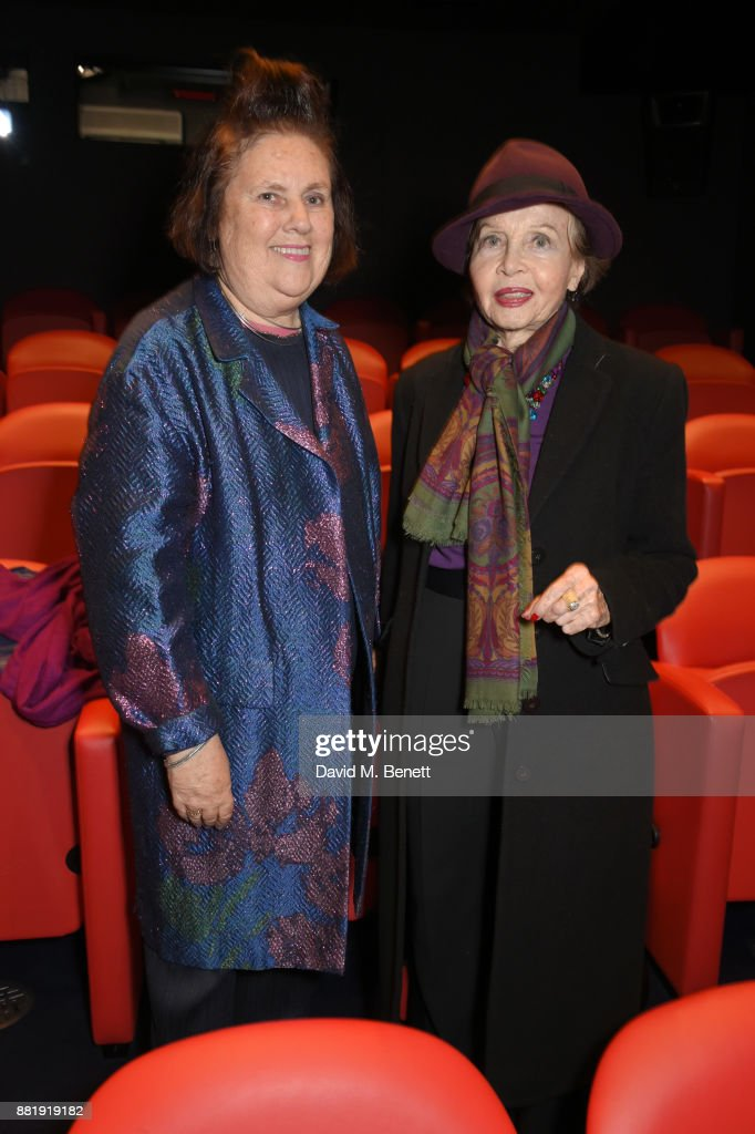 Suzy Menkes (L) and Leslie Caron attend the LOVE, CECIL special preview screening with director Lisa Immordino Vreeland at Soho Hotel on November 29, 2017 in London, England.