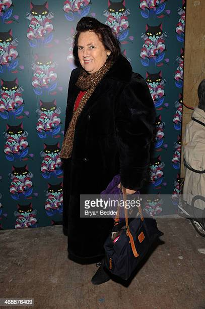 Suzy Menkes attends Miu Miu Women's Tales 7th Edition 'Spark Light' Screening Arrivals at Diamond Horseshoe on February 11 2014 in New York City