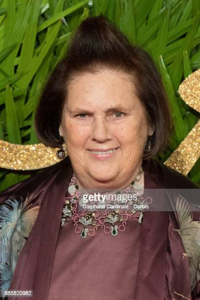 Suzy Menkes attends the Fashion Awards 2017 In Partnership With Swarovski at Royal Albert Hall on December 4 2017 in London England