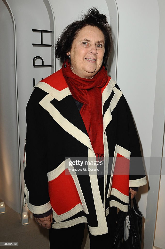 Suzy Menkes attends the Joseph flagship opening, as part of Paris fashion week, at Joseph store on March 8, 2010 in Paris, France.