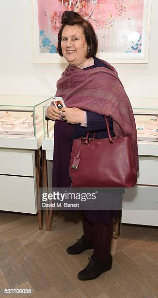 Suzy Menkes attends the launch of the Stephen Webster Salon on Mount Street on May 18 2016 in London England