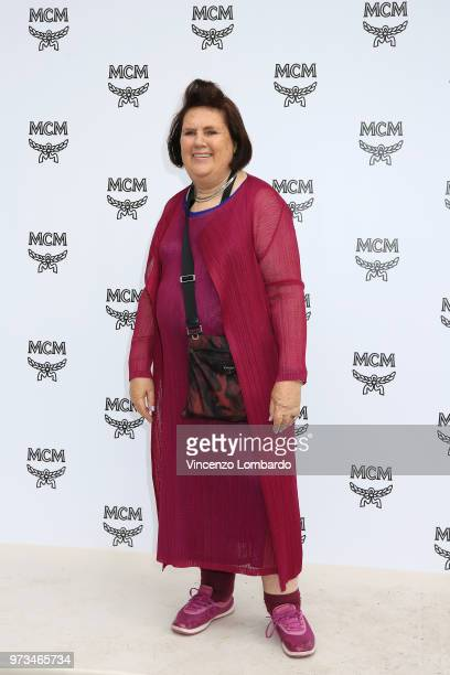 Suzy Menkes attends the MCM Fashion Show Spring/Summer 2019 during the 94th Pitti Immagine Uomo on June 13 2018 in Florence Italy