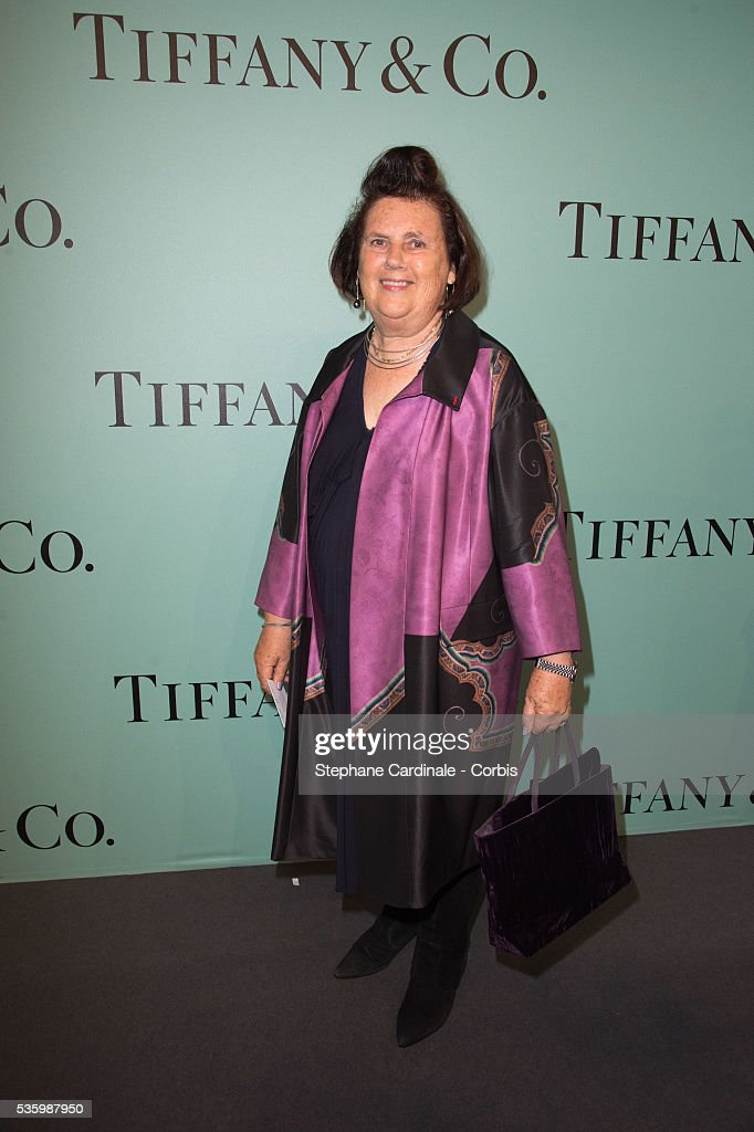 Suzy Menkes attends the Tiffany & Co Flagship Opening on the Champs Elysee on June 10, 2014 in Paris, France.