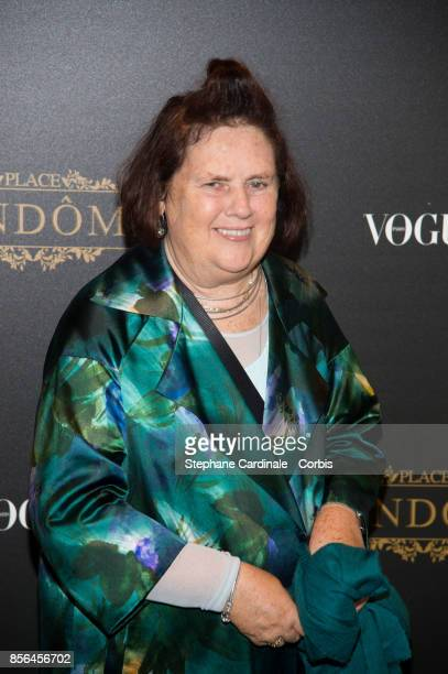 Suzy Menkes attends Vogue Party as part of the Paris Fashion Week Womenswear Spring/Summer 2018 at on October 1 2017 in Paris France