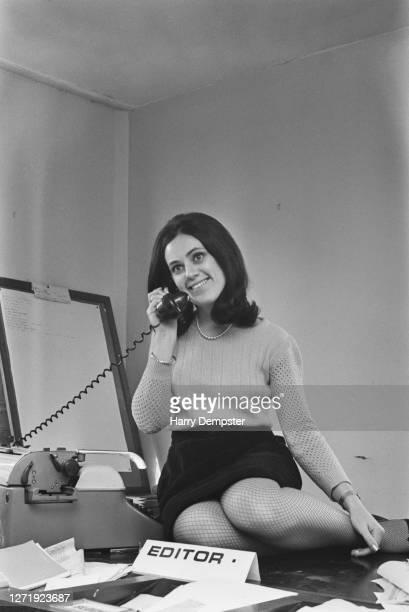 Suzy Menkes editor of Cambridge University magazine 'Varsity' 1965
