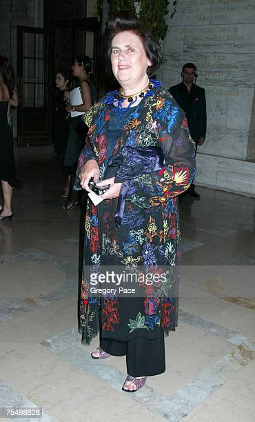 Suzy Menkes International Herald Tribune Fashion Reporter at the The 2003 CFDA Fashion Awards Arrivals Cocktail Party at The New York Public Library...