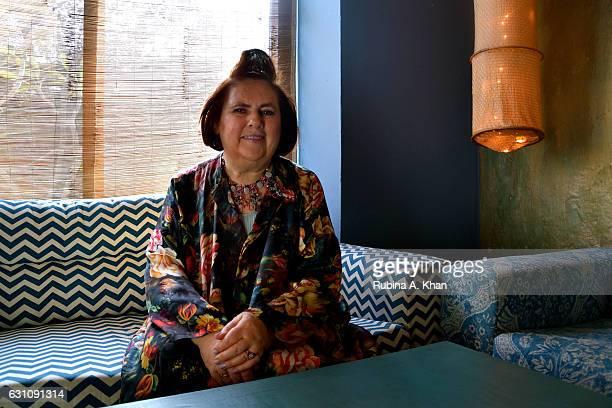 Suzy Menkes International Vogue Editor at a hightea hosted by Bandana Tewari EditoratLarge Vogue India and Anita Lal of Good Earth at Good Earth...