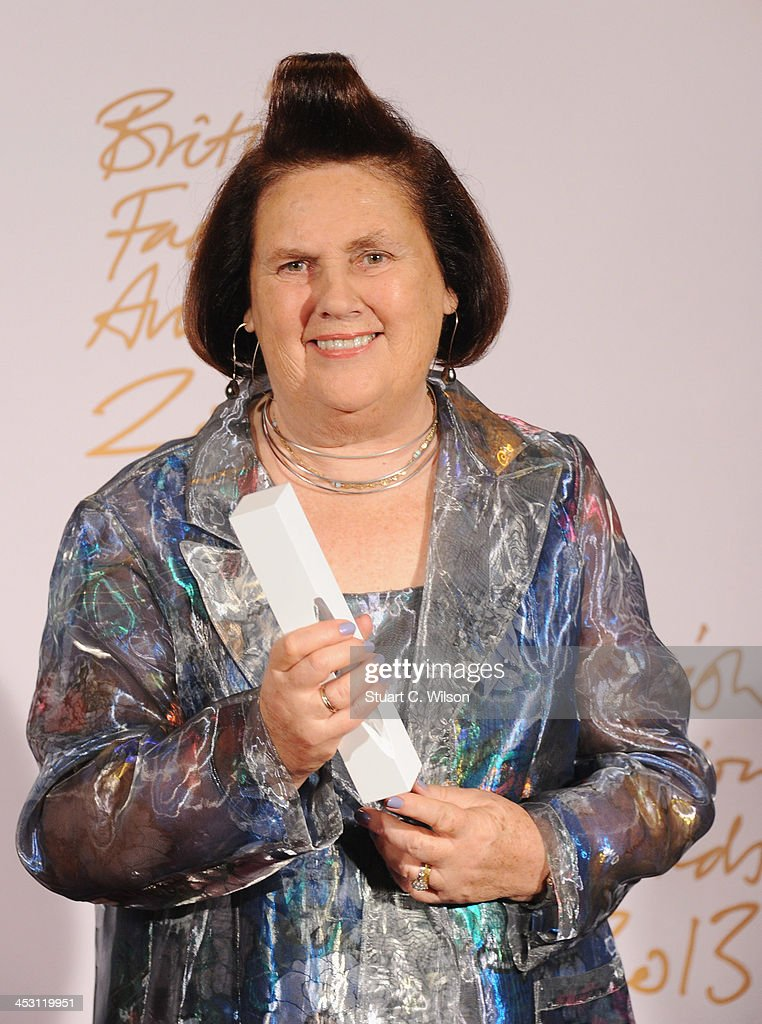 Suzy Menkes with the Special Recognition Awards poses in the winners room at the British Fashion Awards 2013 at London Coliseum on December 2, 2013 in London, England.