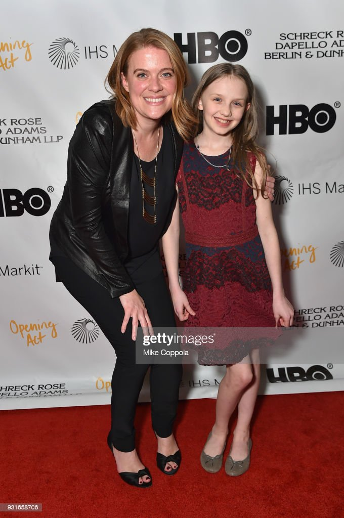Suzy Myers Jackson and Willow McCarthy attend Opening Act's 12th Annual Benefit Play Reading 'Hear Me Here' At New World Stages on March 13, 2018 in New York City.