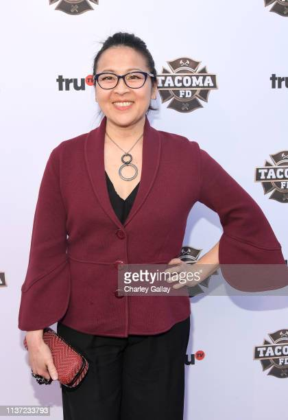 Suzy Nakamura attends truTV's Tacoma FD Premiere Event on March 20 2019 in Los Angeles California