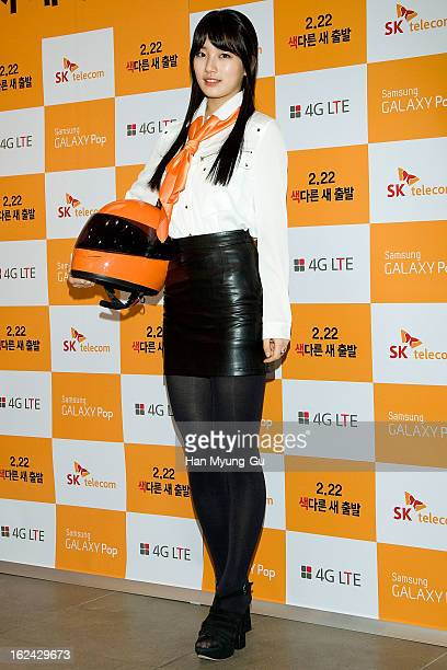 Suzy of Miss A attends an autograph session for Samsung Galaxy Pop on February 22 2013 in Seoul South Korea