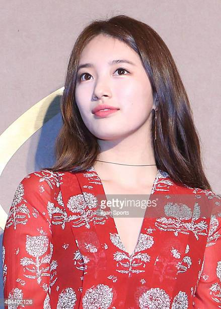 Suzy of miss A attends the Burberry flagship store opening event at Cheongdamdong on October 15 2015 in Seoul South Korea