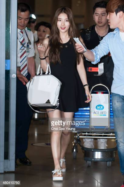 SuZy of Miss A is seen at Incheon International Airport on May 31 2014 in Incheon South Korea