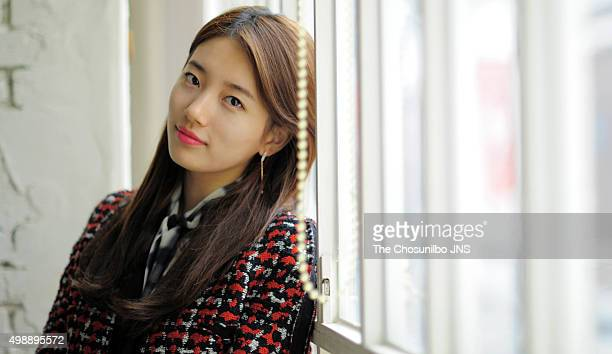 Suzy of miss A poses for photographs on November 20 2015 in Seoul South Korea