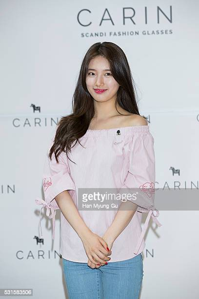 Suzy of South Korean girl group Miss A attends the autograph session for CARIN at Shinsegae Department Store on May 15 2016 in Seoul South Korea
