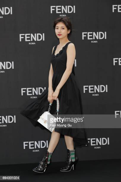 Suzy of South Korean girl group Miss A attends the photo call for 'FENDI' Boutique at Galleria Department Store on June 9 2017 in Seoul South Korea