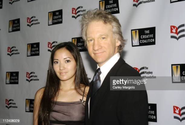 Suzy Oo and Bill Maher during 25th Anniversary Hugh M. Hefner First Amendment Awards to Benefit The Creative Coalition at Chelsea Piers, Pier 60 in...