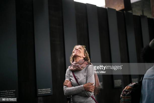 Suzy Peterson visits the National Memorial For Peace And Justice on April 26 2018 in Montgomery Alabama This whole experience is so powerful Peterson...