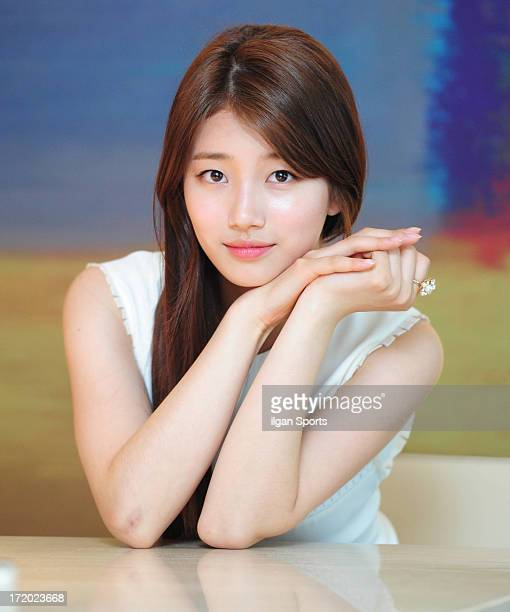 SuZy poses for photographs on June 25 2013 in Seoul South Korea