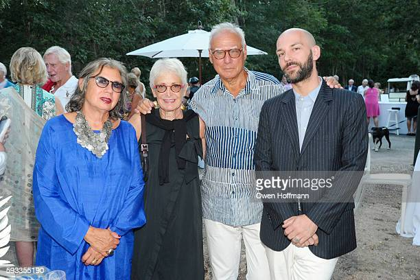 Suzy Slesin Barbara Toll Michael Steinberg and Renaud Proch attend Animal Rescue Fund Of The Hamptons Bow Wow Meow Ball at Animal Rescue Fund Of The...
