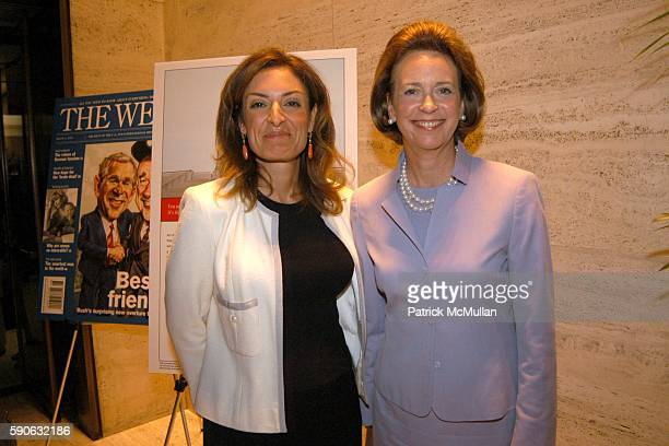 Suzy Welch and Catherine Kinney attend The Week hosts Women in Power Views from the Top Sponsored by UBS at Four Seasons on July 19 2005 in New York...