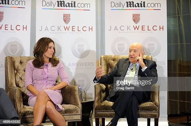 Suzy Welch and Jack Welch attend the DailyMailcom Answers To Correspondents with Jack Suzy Welch on April 15 2015 in New York City