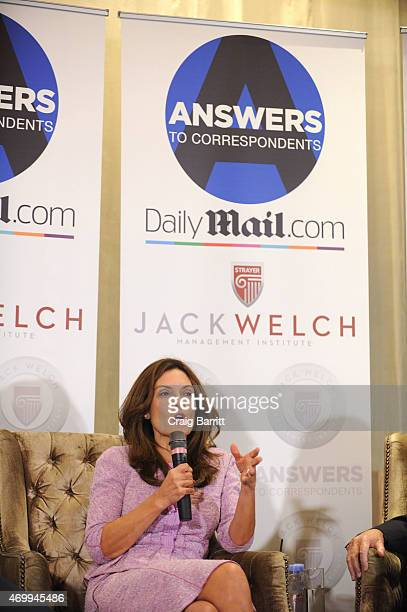 Suzy Welch attends the DailyMailcom Answers To Correspondents with Jack Suzy Welch on April 15 2015 in New York City