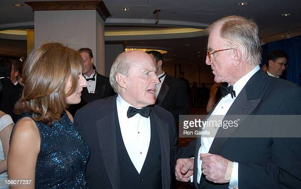 Suzy Wetlaufer Jack Welch and John McLauglin during White House Correspondent's Dinner Predinner Receptions NO USA SALES UNTIL in Washington DC...