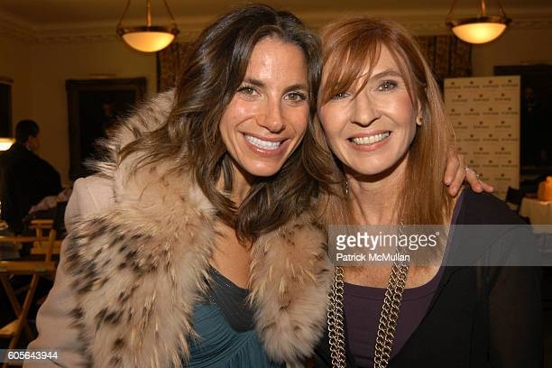 Suzy Yaloff Schwartz and Nicole Miller at NICOLE MILLER Fashion Show at The New York Yacht Club on February 3 2006 in New York