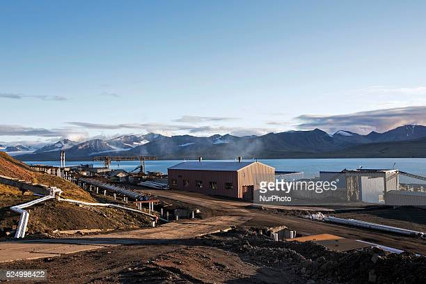 Svalbard Barentsburg Arktikugol on July 2015 Barentsburg is the second largest settlement on Svalbard with about 500 inhabitants almost entirely...