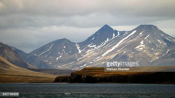 Svalbard coast landscape