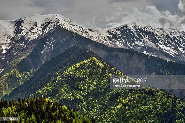 Svaneti mountain road at Upper Svaneti Georgia