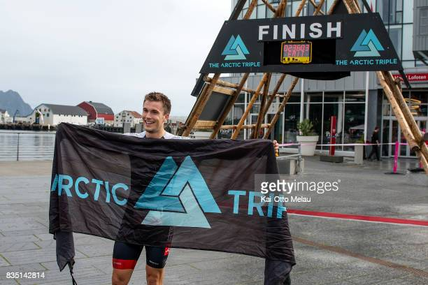 Svein Stormyr wins The Arctic Triple // Lofoten Triathlon Olympic distance on August 18 2017 in Svolvar Norway Lofoten Triathlon is one of three...