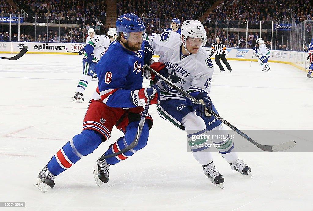 Vancouver Canucks v New York Rangers : News Photo