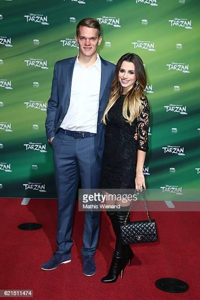Sven Bender and Christina Rafael attend 'Tarzan' Musical Premiere on November 6 2016 in Oberhausen Germany