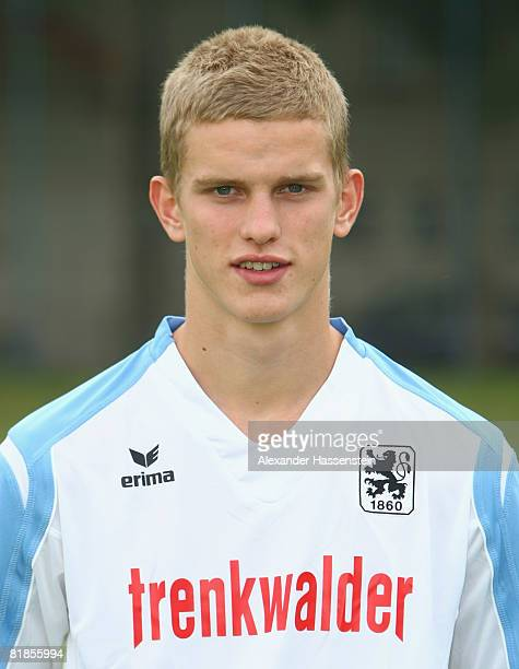 Sven Bender of 1860 Munich poses during the TSV 1860 Munich team presentation on July 8 2008 in Munich Germany