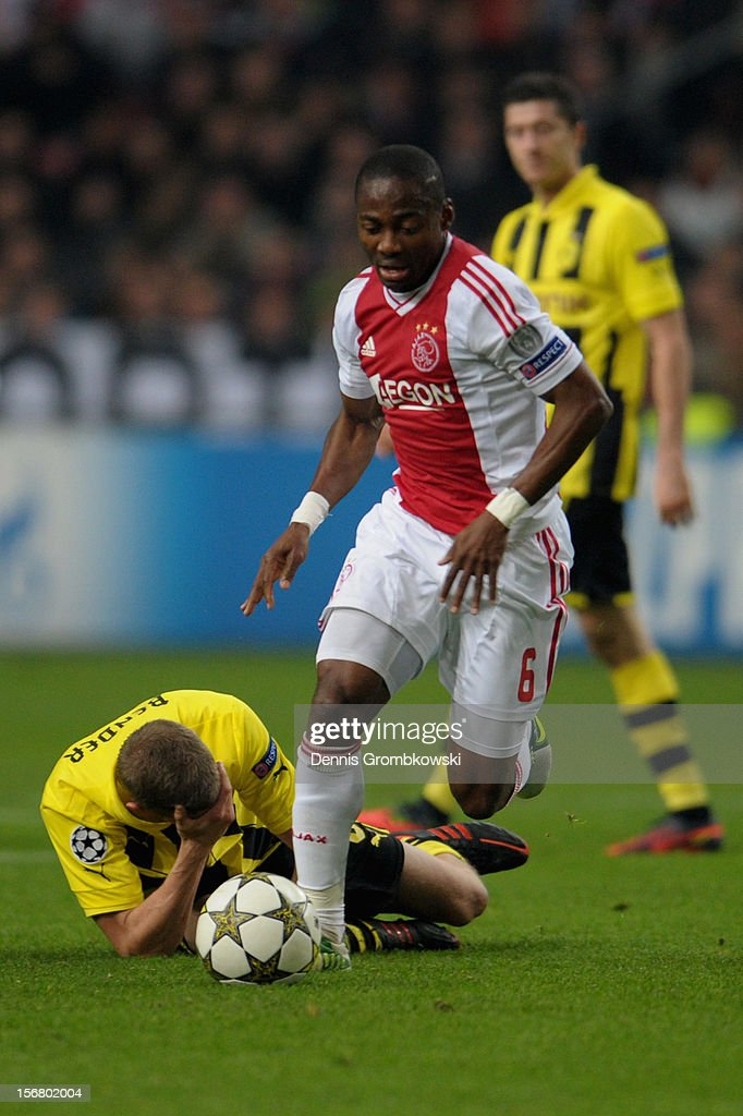 AFC Ajax v Borussia Dortmund - UEFA Champions League : News Photo