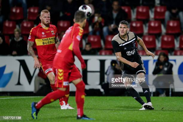 Sven Botman of Ajax U23 during the Dutch Keuken Kampioen Divisie match between Go Ahead Eagles v Ajax U23 at the De Adelaarshorst on September 21...