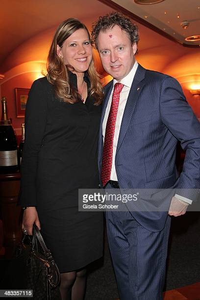 Sven Elverfeld Aqua Wolfsburg and his wife Silke attend the Gala 'Nacht der Koeche' during the 17th 'SterneCup der Koeche' skiing competition for...
